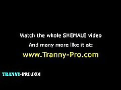 Tranny gets ass dp