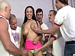 Supr hot belly danxe chick blows a group of white dicks 30