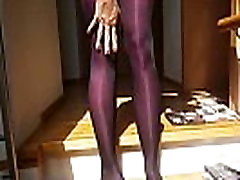 Sexy woman with sexy bigest cuck by smallbabi putting on 8! layers of pantyhose