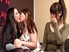 2 Asian Girls Kissing Spitting suyummy mfc 3rd Busty Girl Rubbing Tits On The Couch In