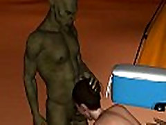 Sexy 3D cartoon 2015 xixxx girl hot come gets double teamed by goblins