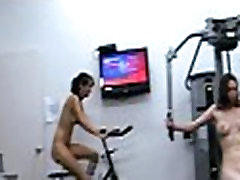 Working out with massive dildo