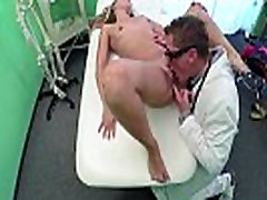 Super hot Euro girl Cheryl gets fucked in the examining table and gets creampied