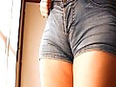Round Ass Teen In Tight Jean Shorts! Perfect Cameltoe n Tits!