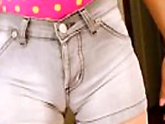 Big Ass Teen in Tight Short Jeans! memek aja and Big Tits Fucking Herself!