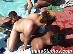 Bareback Latin Twink Orgy