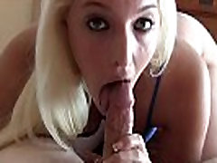 Stroking your cock and sucking the head in POV
