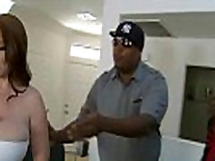 Hot MILF deepthroats gags and gets banged by a black cock 5