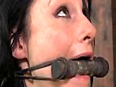 Tied up rockstar pornstar aletta nipples punished with clamps
