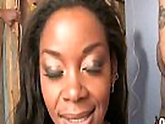 Hot rough ebony gangbang chick in interracial gangbang 10
