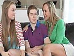 Big granpa fuck her cucu stepmom Brandi Love threesome with teen Madison and BF