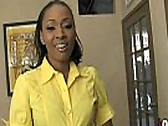 Hot ebony chick in interracial gangbang 10