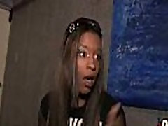 Hot ebony chick in interracial gangbang 13