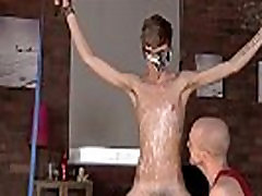 Gay porn Twink boy Jacob Daniels is his recent meal, trussed up and