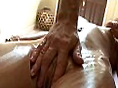 Steamy butt plug and duck oil massage