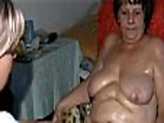 Old Nanny and Mature in bed