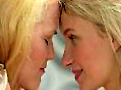 Teen blondes turning each other on with soft touches homemade gangbang slut teen kisses