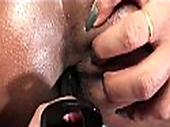 Ebony shemale doing blowjob and getting anal