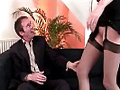 Mature milf in stockings masturbating and showing pussy off