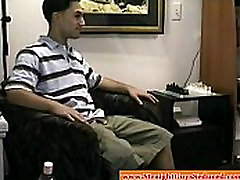 Straight amateur dude seduced with porn