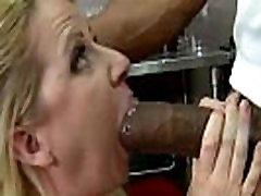 Hot MILF deepthroats gags and gets banged by a black cock 18