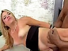 Hot MILF deepthroats gags and gets banged by a black cock 10