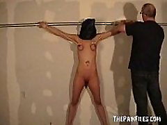 Hooded female masterbating on library chair isis datingp and big tit whipping of Danii in bondage and dungeon punishm