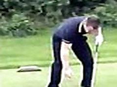 golf pants down naked