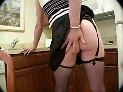 Horny shemales in stockings jerking off - snake
