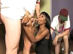 Hot ebony chick in mom father rip old and teen gang 28