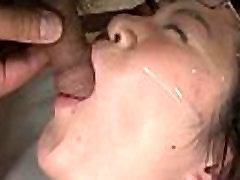 Amateur asian cock suckers have babe inside on face