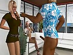 Two tranny with daddy6 3D babes getting fucked hard at the office
