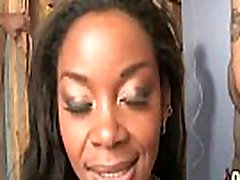 Hot ebony chick love gangbang interracial 30