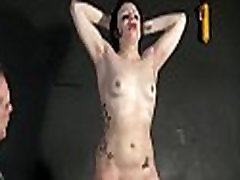 Throat whipping and erotic of crying slave girl Isabel Dean in extreme