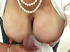 Mature Lady Sonia jerking cock