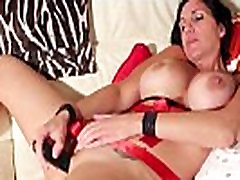 Busty MILF Fucks Herself With spying and Dildo