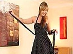 Czech blonde woman in nylons posing
