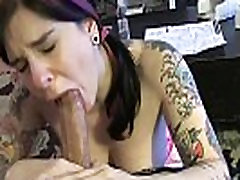 Tattood Angel Joanna gives great blowjob