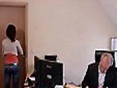 Horny young secretary fucks her old boss