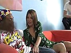 Hot MILF deepthroats, gags and gets banged by a black cock 19