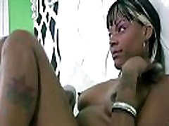 Black teen bitch uses toy