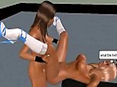 Two 3D hot babes are muffdiving on eachother