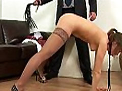 Dominant teacher gives a spanking lesson