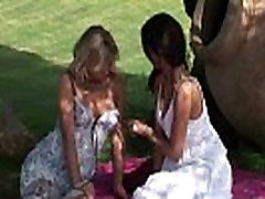 Viv Thomas random facials part 65 HD - Blonde and brunette babes having sex at the garden