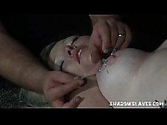 Two amateur slavegirls extreme needle and breast bondage of Andrea