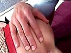 Horny busty babe getting hard ass fucked