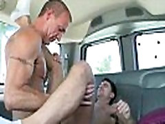 In his tight ass this amateur stud takes a sniffing own ass cock
