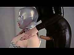 lovely strapon lesbians in mask playing