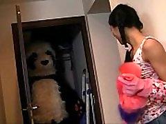 Young girl sucks a hellooo venus black dick toy panda