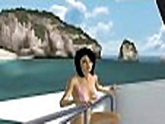 Sexy 3D cartoon babe getting fucked on a boat